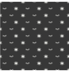 Hand drawn seamless pattern with open and close vector