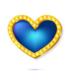 a retro frame light blue vector image