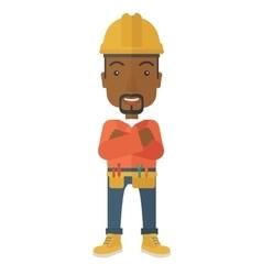 African-american constructions worker vector