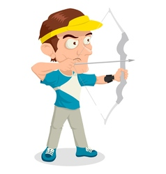 Archery caricature vector