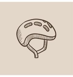 Bicycle helmet sketch icon vector image