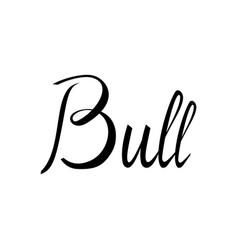 bull lettering american bull vector image