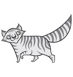 cartoon tabby cat vector image vector image