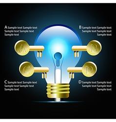 Creative light bulb idea infographic vector image