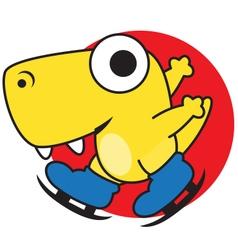 Dinosaur skating vector
