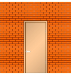 Door on a brick wall vector image