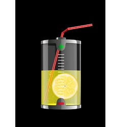 energy lemon vector image vector image