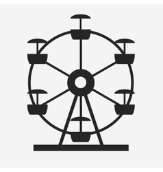 Ferris Wheel Icon Silhouette Entertainment Round vector image