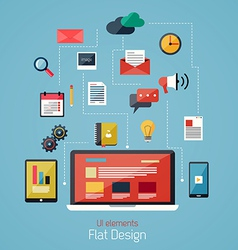 flat icons 2 vector image vector image