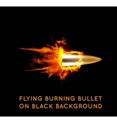 Flying burning bullet vector image vector image