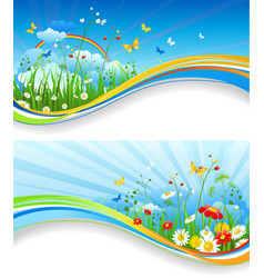 Fun summer banners vector