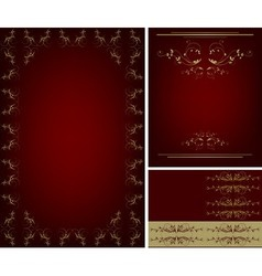 gold frame set vector image