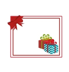 Happy merry christmas gifts decoration card vector