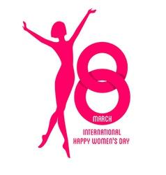 Happy Women Day background vector image