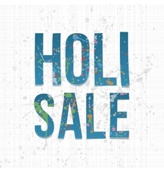 Holi sale background festival banner template vector