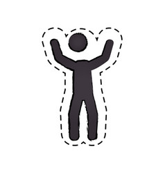 human figure silhouette icon vector image
