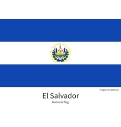 National flag of El Salvador with correct vector image