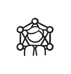 Online business sketch icon vector