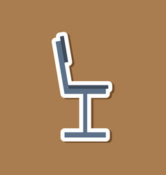 paper sticker on stylish background chair vector image