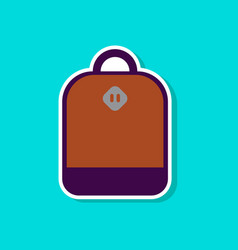 Paper sticker on stylish background school bag vector