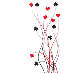 Poker bridge - card game vector