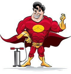 Pumping superhero vector