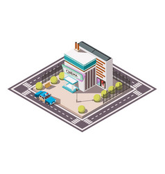 Rescue service isometric set vector