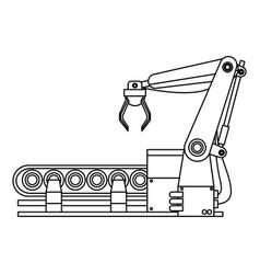 robotic arm assemble line mechanic manufacturing vector image vector image