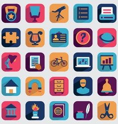 Set of flat education icons for design vector image vector image