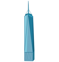 Skyscraper building on white background vector