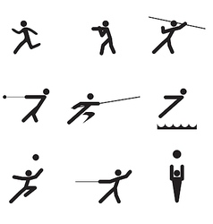 sport logo silhouettes vector image vector image