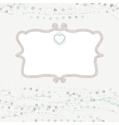 Vintage hearts card vector image
