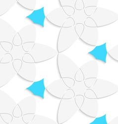 White floristic swirl with blue pattern seamless vector image vector image