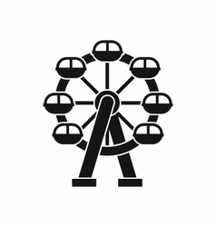 Ferris wheel icon simple style vector