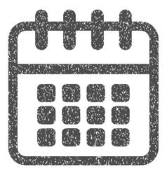 Spiral calendar grainy texture icon vector