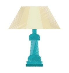 drawing table lamp house appliance decorative vector image