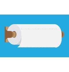 Kitchen paper towel vector