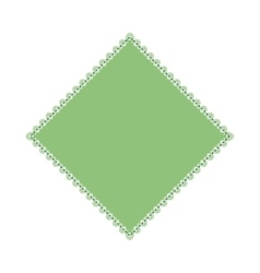 Isolated argyle diamond vector