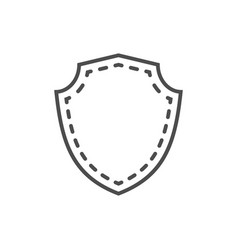 Shield icon shape emblem vector