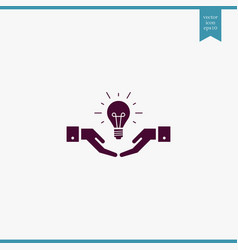 Idea icon simple vector