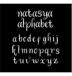 Natasya alphabet typography vector