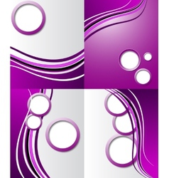Set of elegant abstract purple background with for vector