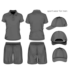 Men sport clothes vector