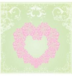 vintage floral heart frame vector image