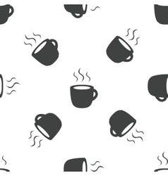 Hot drink pattern vector