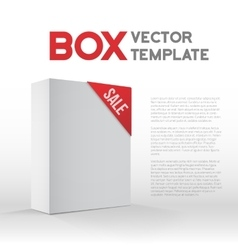 Photorealistic 3d white carton box sale vector