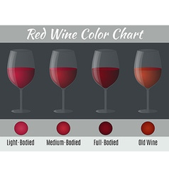 Red wine color chart vector