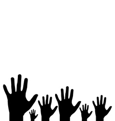 Hands on white background vector