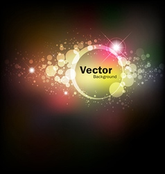 Abstract colorful night vector