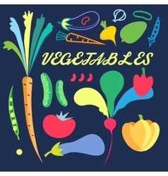 Bright background with colored vegetables vector